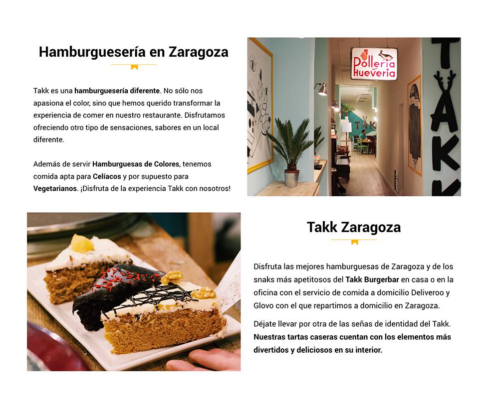 Takk burgerbar Zaragoza